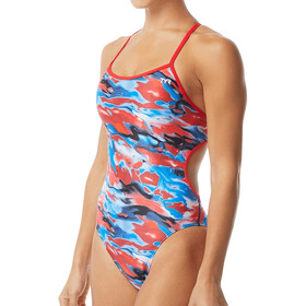 TYR Synthesis Trinityfit Costume da bagno Donna, red/white/blue
